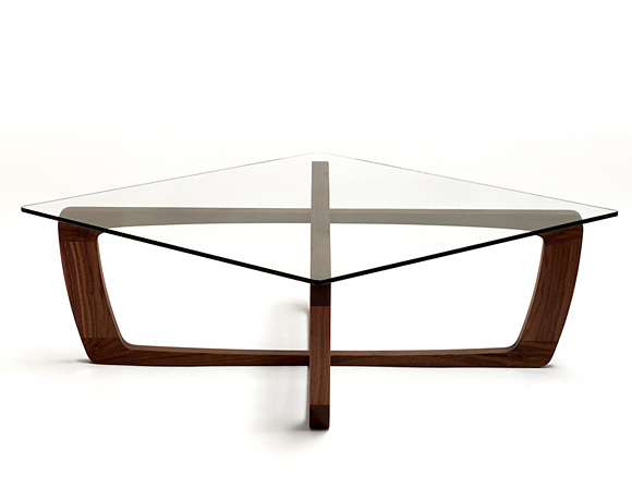 Wood coffee table with glass top Glass contemporary coffee table